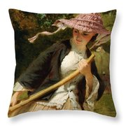 The Haymaker Throw Pillow