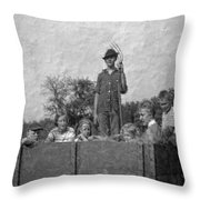 The Hayride Throw Pillow