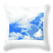 The Head In The Clouds Throw Pillow