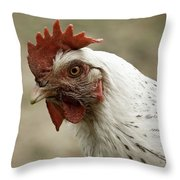 The Head Of A Rooster Throw Pillow