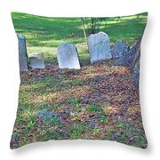 The Headstones Of Slaves Throw Pillow
