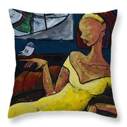 The Healing Process - From The Eternal Whys Series  Throw Pillow