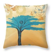 The Healing Tree Throw Pillow
