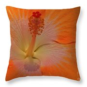 The Heart Of A Hibiscus Throw Pillow