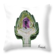 The Heart Of An Artichoke Throw Pillow
