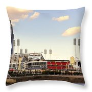 The Heart Of Cincinnati  Throw Pillow