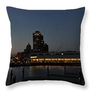 The Heart Of Milwaukee Throw Pillow