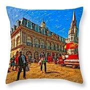 The Heart Of New Orleans Throw Pillow by Steve Harrington