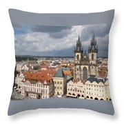 The Heart Of Old Town Throw Pillow