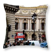 The Heart Of Paris Throw Pillow