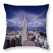 The Heart Of San Francisco Throw Pillow by Mountain Dreams