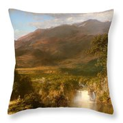 The Heart Of The Andes Throw Pillow