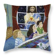 The Heart Of The Lord To The Children Throw Pillow