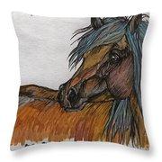The Heavy Horse Throw Pillow