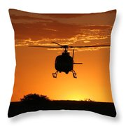 The Helicopter Throw Pillow