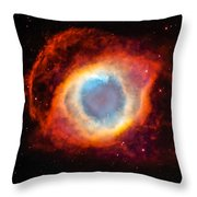The Helix Nebula Throw Pillow