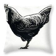 The Hen Throw Pillow