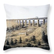 The High Bridge Near Farmville, Prince Throw Pillow
