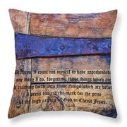 The High Calling Of God In Christ Jesus Throw Pillow