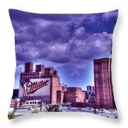 The High Life Of Milwaukee Throw Pillow