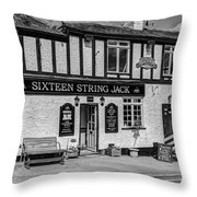 The Highwayman Pub Throw Pillow