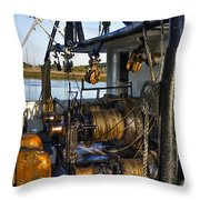 The Highways And Byways Of Shrimping Throw Pillow