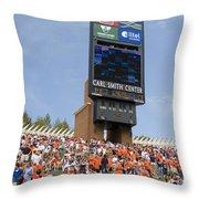 The Hill At Scott Stadium Uva Throw Pillow