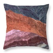 The Hill Of Seven Colors Throw Pillow