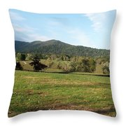 The Hills Near Marriot Ranch Throw Pillow