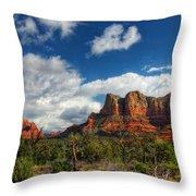 The Hills Of Sedona  Throw Pillow