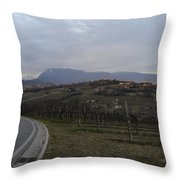 The Hills Of The Wine Throw Pillow