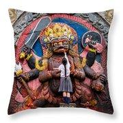 The Hindu God Shiva Throw Pillow