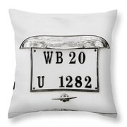 The Hindustan Ambassador Throw Pillow
