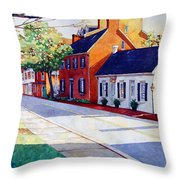 The Historic District Throw Pillow