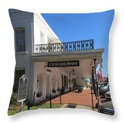 The Historic Excelsior Hotel Jefferson Texas Throw Pillow
