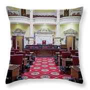 The Historic House Chamber Of Maryland Throw Pillow