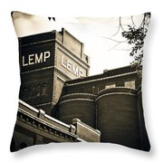 The Historic Lemp Brewery Throw Pillow