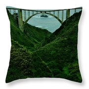 The Historic Pch Throw Pillow