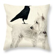 The Hitchhiker Throw Pillow by Edward Fielding