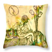 The Hold Up Sepia Tone Throw Pillow by Angelique Bowman