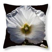 The Hollyhock Throw Pillow
