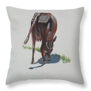 The Holy Cow And Dung 3 Throw Pillow