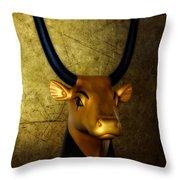 The Holy Cow Throw Pillow by Olga Hamilton