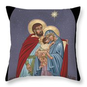 The Holy Family For The Holy Family Hospital Of Bethlehem Throw Pillow