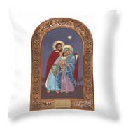 The Holy Family For The Holy Family Hospital Of Bethlehem With Frame Throw Pillow