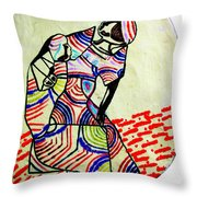 The Holy Family Throw Pillow by Gloria Ssali
