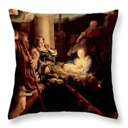 The Holy Night Throw Pillow
