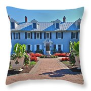 The Homestead Birthplace Of Milton Hershey Throw Pillow