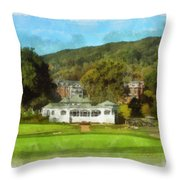 The Homestead Country Club Throw Pillow