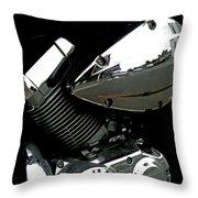 The Honda's Shadow Throw Pillow